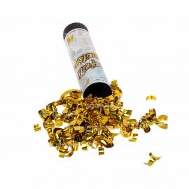 20cm Mini Handheld Confetti Shooter with Gold or Silver Metallic Foil Confetti