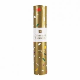 20cm Luxe Gold Confetti Cannon