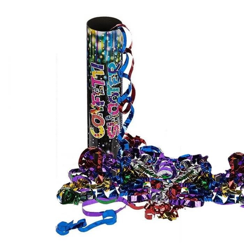 20cm Coloured Foil Confetti Shooter