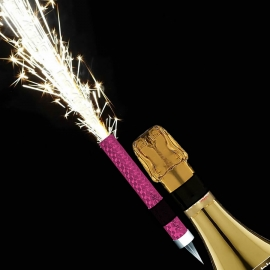 Prosecco Flaming Ice Fountain with bottle clip