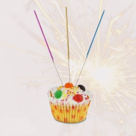 Coloured Cake Topper Sparklers, Pack of 8