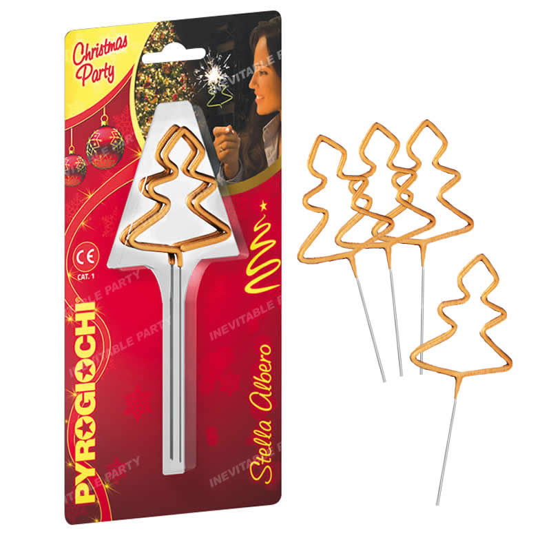 Christmas Tree Sparklers, Pack of 4