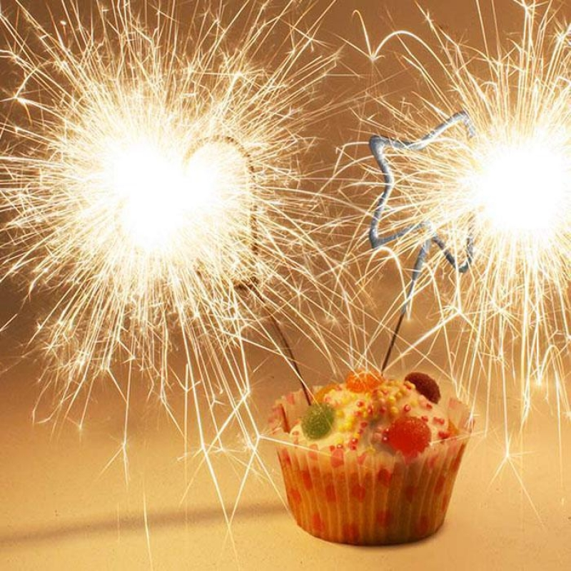Awe Inspiring 4 Heart Shaped Cake Sparklers Funny Birthday Cards Online Fluifree Goldxyz