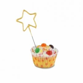 Star Shaped Cake Sparkler - Gold