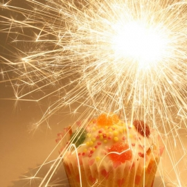 10cm Mini Indoor Cake Sparklers, Tube of 10