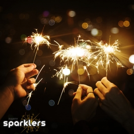15cm Indoor or Outdoor Sparklers, Pack of 40